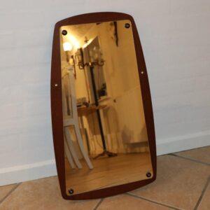 Teak retro spejl 69x39 cm