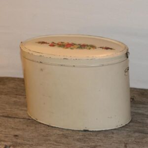 Romantisk dåse i creme og glansbilleder 27x25,5x18,5 cm H
