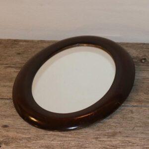 Maghoni spejl 30x24 cm