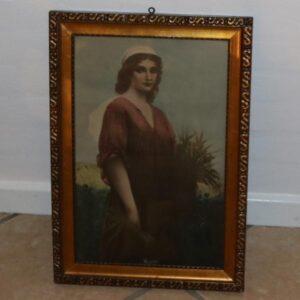Religiøst Magdaline billede i guldramme 50x35 cm