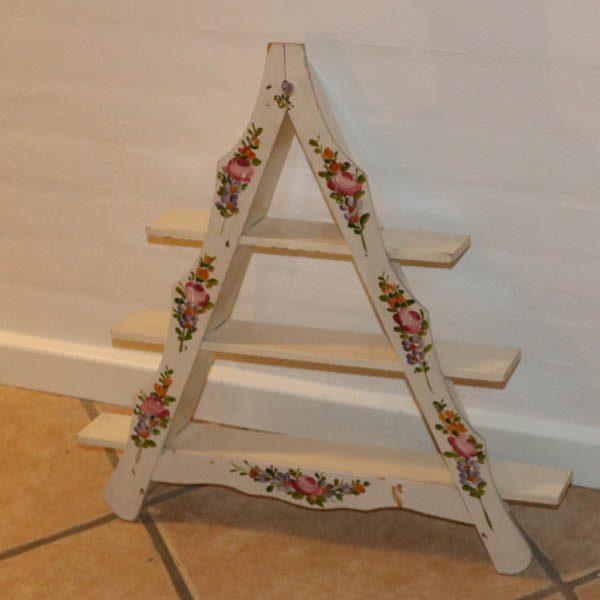 Romantisk amagerhylde blomstret B53x57,5x7 cm D