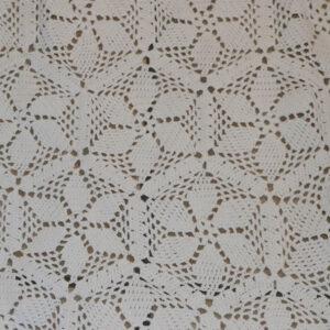 Hæklet sengetæppe i hvidt B190x240 cm