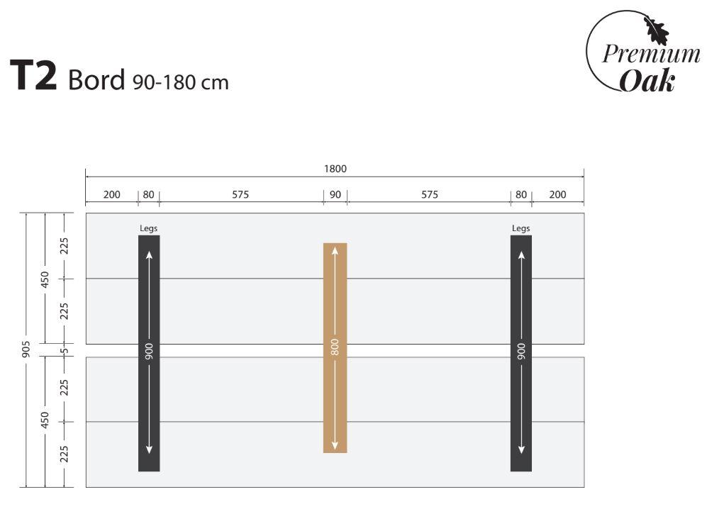 OAK plankebord 90x190 cm