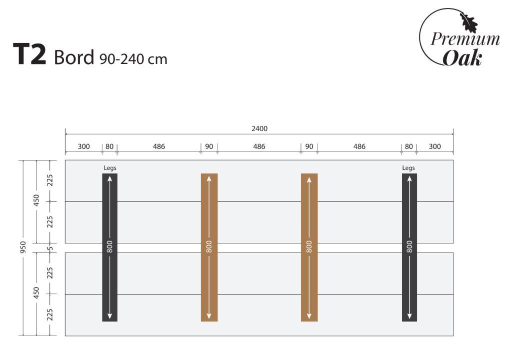 OAK plankebord 90x240 cm