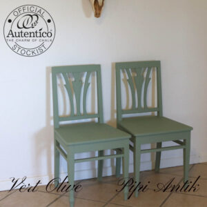 Vert Olive stol romantisk B44xD41xH85 sædehøjde 45cm