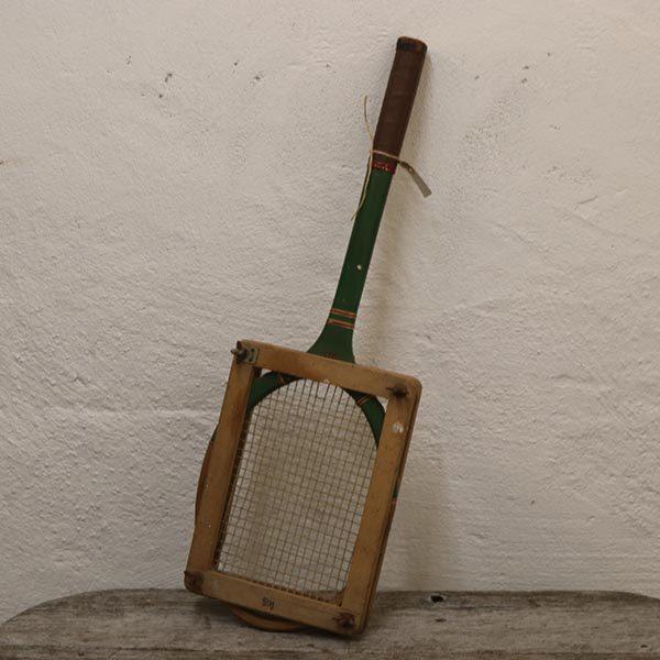 Tennis ketcher i træ med ramme 68 cm lang
