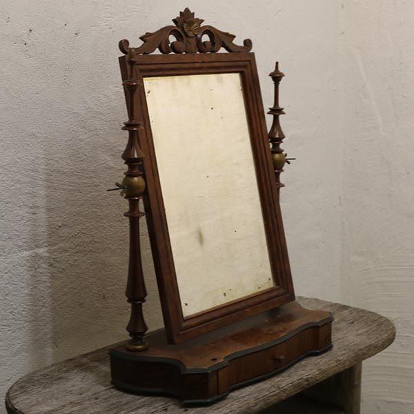 07 Pigtitare spejl vippespejl mørkt træsort 47x22x60 cm H