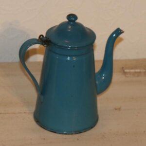Blå kaffekande emalje Ø12x21 cm - fin inde også