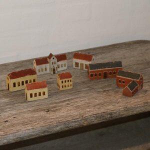 Bymiljø i træ miniput by sæt