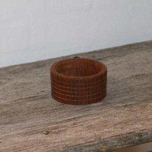 Miniput teak skål Ø10x5,5 cm