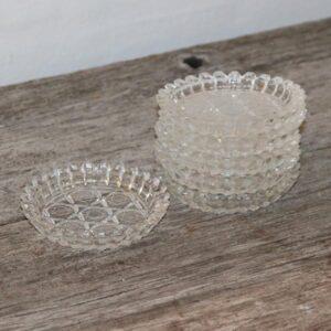 Ølglasbrikker eller lyseholdere Ø9 cm 6 stk