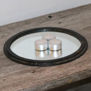 Komfurrist i metal med spejl Ø25x1,5 cm