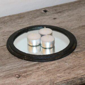 33 Komfurrist i metal med spejl Ø15,5x1,5 cm