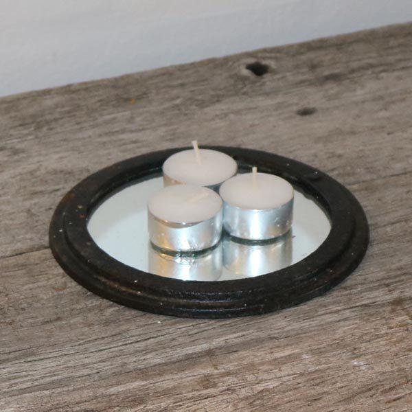 36 Komfurrist i metal med spejl Ø17x1,0 cm