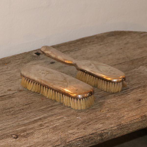 Tøjbørste i sølvplet 27 cm i par
