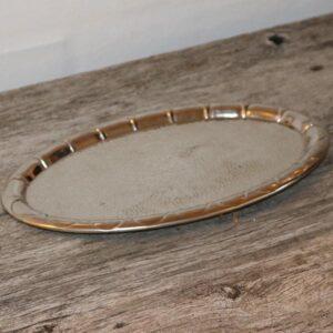 Lille sølvpletbakke L26,5x16,5 cm