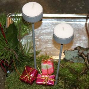 Fyrfadslysholdere lys stikker i zink