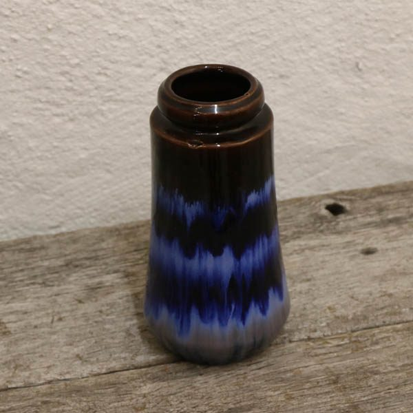 01 West Germany keramikvase 209-18 Ø10x18 cm blå