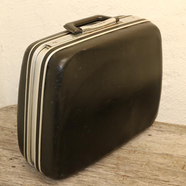 Cavalett retro rejsetaske sort 38x14x35 cm H