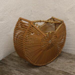 Bambustaske retro Ø25x8 cm