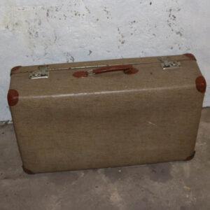 11 Beige meleret retro kuffert 68x42x18 cm
