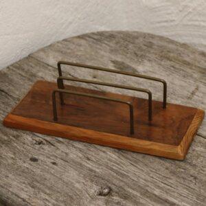 Retro brevholder teak look 23x110x7 cm