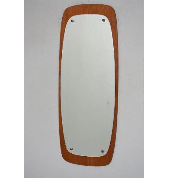 2125 Teak spejl retro 94x38x1 cm