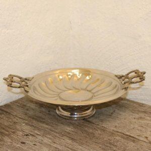 23 Sølvplet skål fad med fod Ø25x8 cm