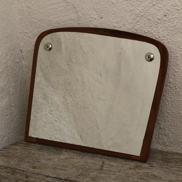 03 Teak retro spejl lille 31x26 cm