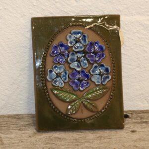 30 Keramikbillede med skår på blå blomst er 18x23 cm