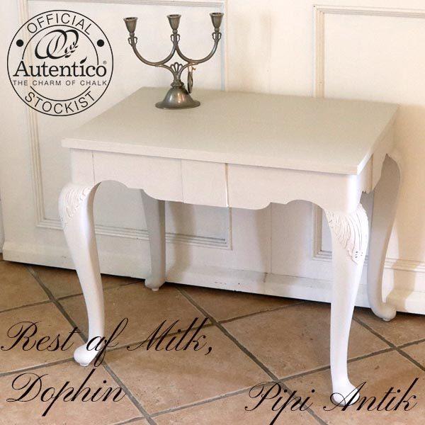 Hvidt sofabord Milk Dophin mix L68xB47xH59 cm