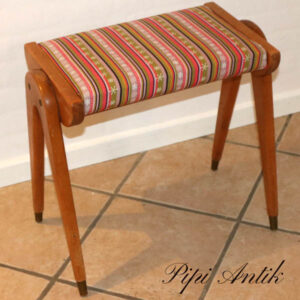 Retro piano stol 52,5x29x49 cm nyt betræk
