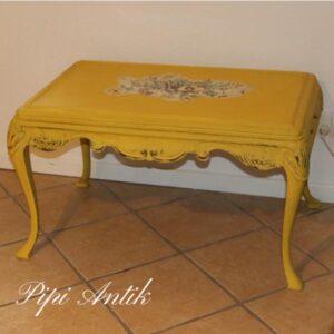 Gul sofabord med kakler 88x54x52 cm H