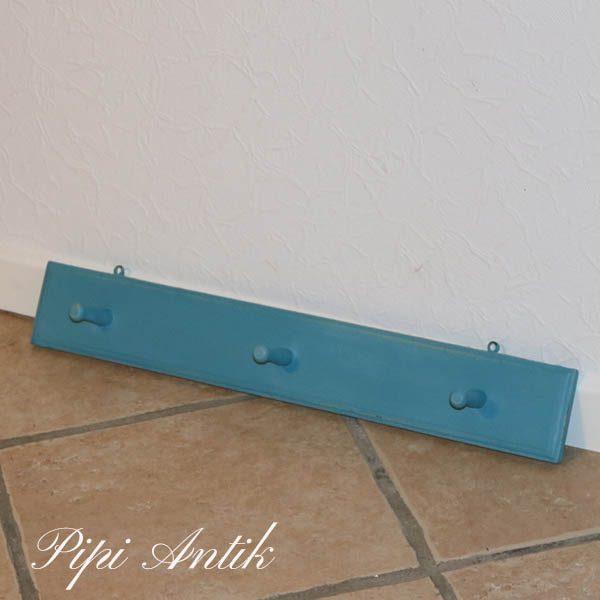 Mintblå knagerække 58x9 cm H
