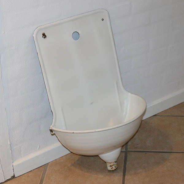 14 Hvid emalje vask H70xB42xD24 cm