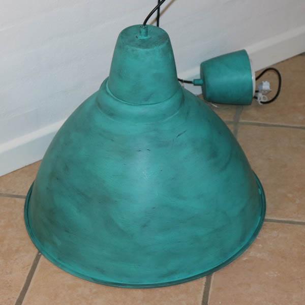 Groovy 15 Industrilook irret storlampe tyrkis og sort voks Ø50x45 cm PW-04