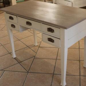 Romantisk skrivebord med lys coco bordplade L110xD58xH77 cm
