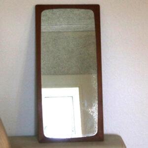 27 Teak spejl med patina 35x5x76 cm H