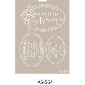 Stencil AS-564 A4 Savon