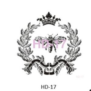 Stencil HD-17 45x45 cm Bi krone