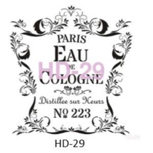 Stencil HD-29 45x45 cm Eau Cologne