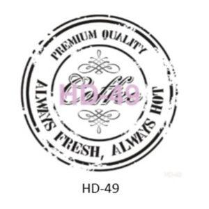 Stencil HD-49 45x45 cm Coffee