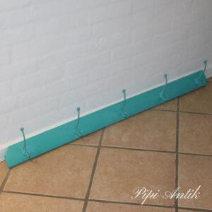 Mintgrøn knage hvidvokset 107x9x15 cm