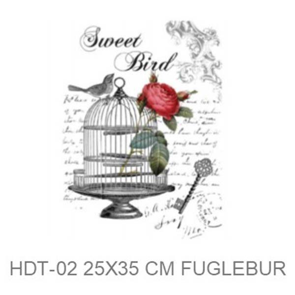 Transfer HDT-02 25x35 cm Sweet Bird