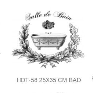 Transfer HDT-58 24x35cm Salle de Bain