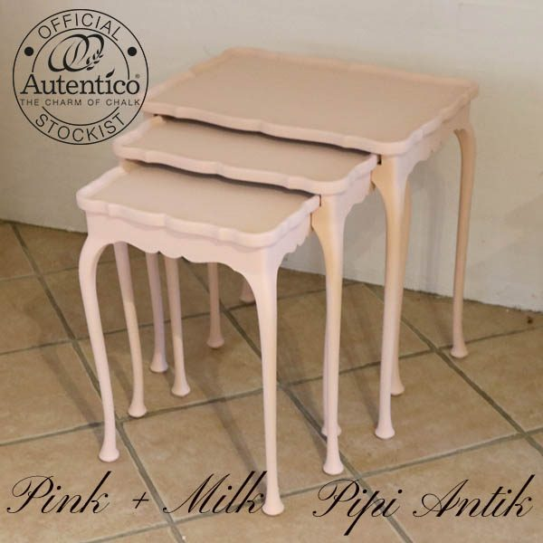 2143 Satsborde pink Milk Autentico største mål: L53xD38xH57cm