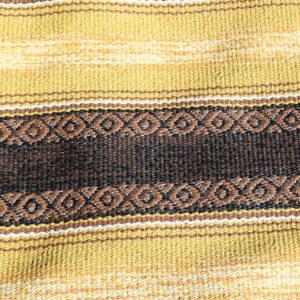 41 Carrygul brun retro siv kluddetæppe 58x200 cm