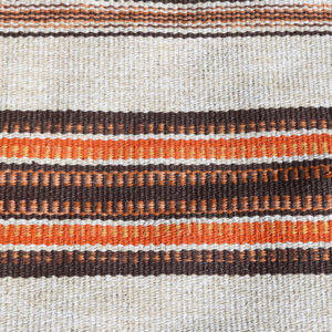 43 Orange brun beige siv retro kluddetæppe 68x220 cm