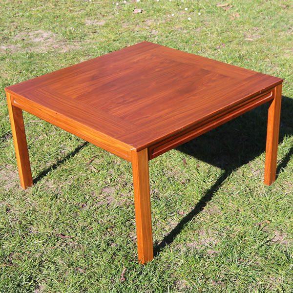 Teak sofabord kvadratisk 75x75x46 cm
