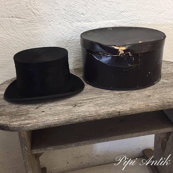 Høj hat str 58 med sort æske